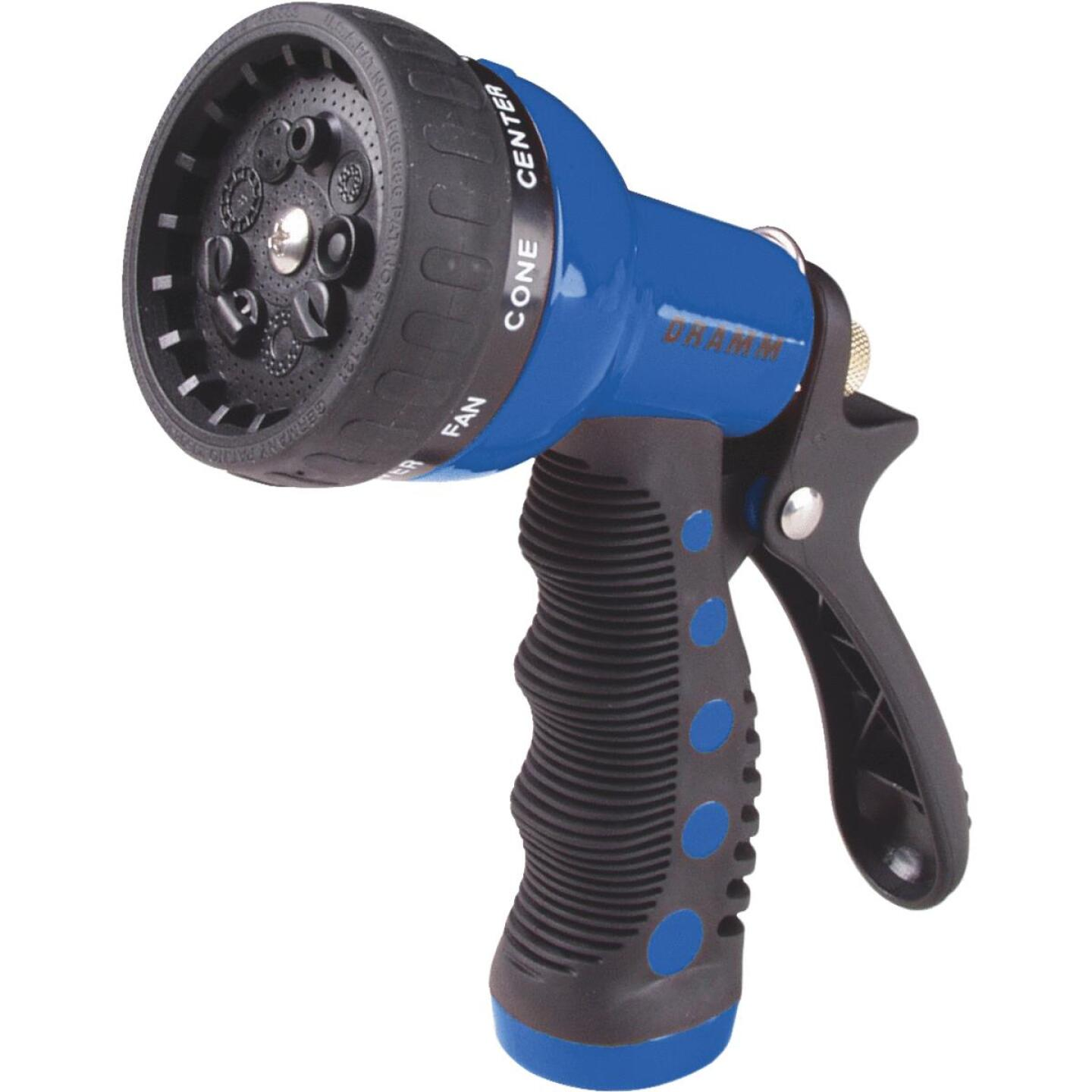Dramm Heavy-Duty Metal 9-Pattern Nozzle, Blue Image 1